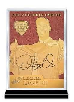 Donovan McNabb Feel The Game Rookie 23K Gold Sculptured Card