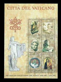 Vatican City 1983 The Papacy and Art Souvenir Sheet #720 MNH