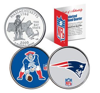 NFL Retro Logo & Team Logo Officially Licensed Colorized State Quarter 2 Coin Set