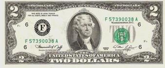 Uncirculated 1976 Bicentennial $2 Bill
