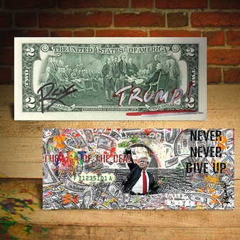 DONALD TRUMP Art of the Deal Genuine $2 Bill SIGNED by Rency