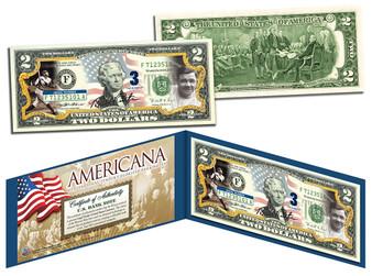 Babe Ruth Americana Series Commemorative Colorized $2 Bill