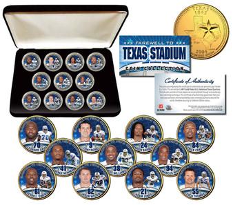 Dallas Cowboys Texas Stadium Farewell 11 Coin Set with Case