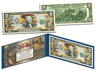 Battle Of Fort Sumter Commemorative Colorized $2 Bill