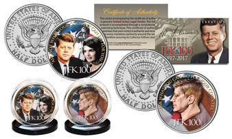 JFK100 John F. Kennedy Centennial Official 2017 JFK Half Dollar Famous Quote 2 Coin Set