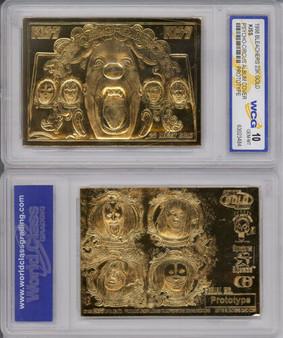 Kiss Gene Simmons Psycho Circus 23K Gold Sculpted Card Graded Gem Mint 10