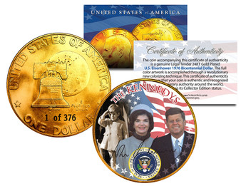 The Kennedys 24K Gold Plated Serialized Ike Dollar