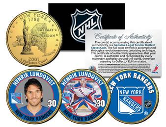 Lundqvist 3 Coin 24K Gold NY State Quarter Set