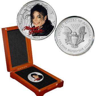 Michael Jackson Colorized Silver Eagle - The 90s