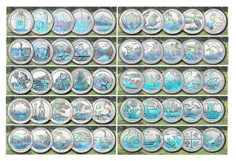 National Parks Hologram State Quarters 2010-2019