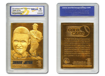 Derek Jeter Yankees Gold Signature 23K Gold Sculptured Cars - Graded Gem Mint 10