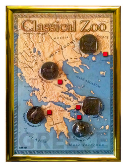 """The Classical Zoo - Greece 5 Coin Set of Historical Replicas in 5"""" x 7"""" Frame"""
