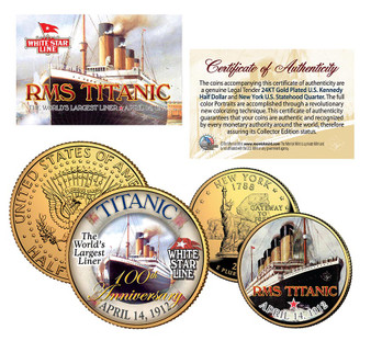 The Titanic 100th Anniversary 2 Coin Set