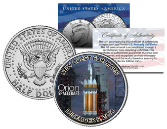 Orion Quest For Mars Colorized JFK Half Dollar