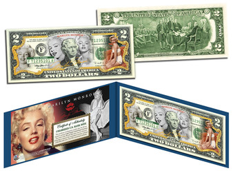 Marilyn Monroe Multi-Image Colorized $2 Bill
