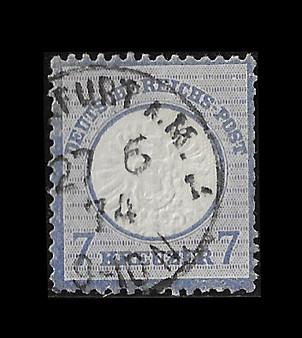 1872 #26 Large Shield 7 Kreuzer Cancelled #1