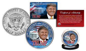Donald Trump 45th President JFK Half Dollar