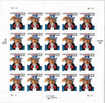 1998 #3259 Uncle Sam