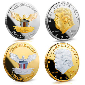 President Trump 2020 2 Coin Tribute Set In AirTites with Coin Stands