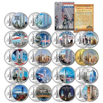WTC 9/11 Anniversary 2002-2019 State Quarter 18 Coin Set