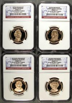 2008 NGC PF69 Presidential Dollar 4 Coin Proof Set