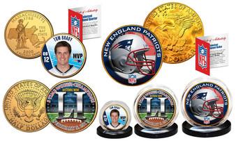 New England Patriots Super Bowl 51 Champions 3 Coin Set