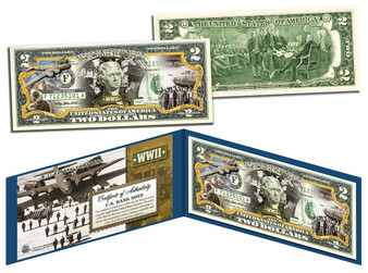 B-17 Flying Fortress Commemorative Colorized $2 Bill