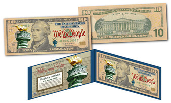 Millennial Elite Series Symbols Of Freedom High-Def Colorized $10 Bill