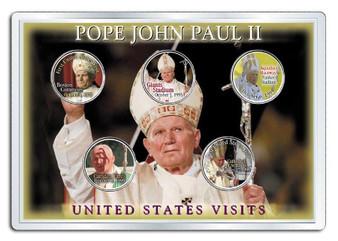 Pope John Paul II U.S.A. Visits 5 Coin State Quarter Set