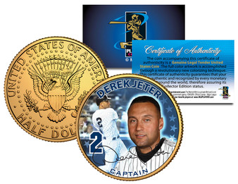 Derek Jeter Yankees Captain JFK Half Dollar