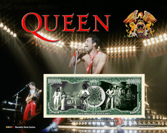 """Queen"" Novelty Million Dollar Bill Reverse Display on an 8"" x 10"" Display Card"
