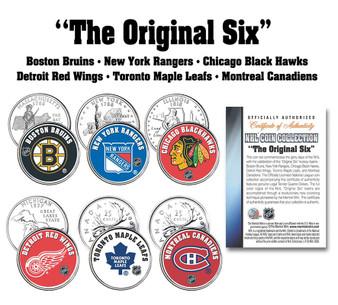 NHL Original Six U.S. & CanadaColorized Quarter Collection