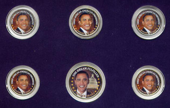 Barack Obama First African American President 6 Coin Set