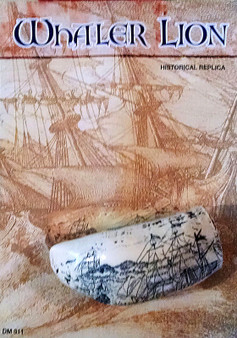 Scrimshaw from the Whaler Lion - Historical Nautical Replica