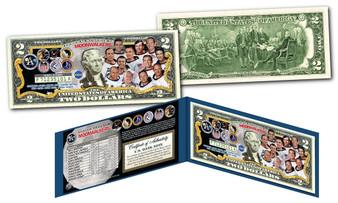 Moonwalkers Commemorative Colorized $2 Bill
