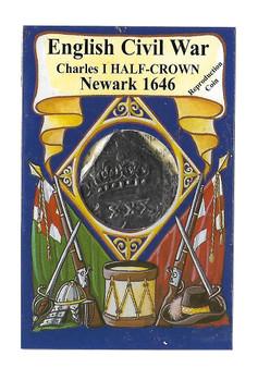 English Civil War Charles I 1646 Half Crown Replica Coin