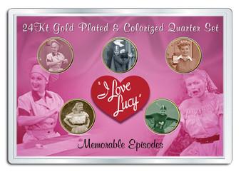 Lucy Memorable Episodes 5 Coin Quarter Set