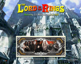 """The Lord Of The Rings Novelty Million Dollar Bill Reverse Display - Gondor on an 8"""" x 10"""" Display Card"""