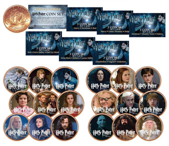 Harry Potter DEATHLY HALLOWS Complete 18 Coin Set