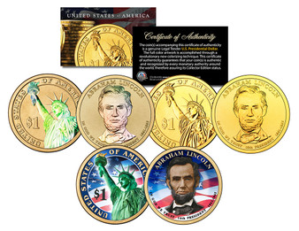 Lincoln Presidential Dollar 3 Coin Set