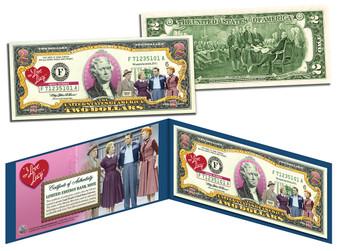 """""""I Love Lucy"""" Commemorative Colorized $2 Bill"""