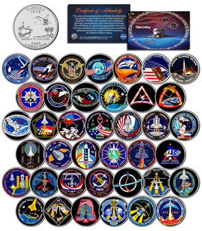 Space Shuttle Discovery Missions 39 Coin NASA State Quarter Set