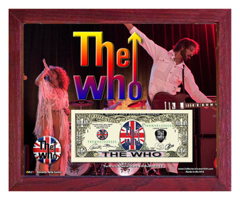 """""""The Who"""" Novelty Million Dollar Bill in 8"""" x 10"""" Frame - Obverse"""