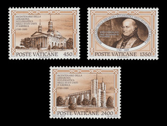 Vatican City 1989 Stamps Ecclesiastical Hierarchy #842-844 MNH