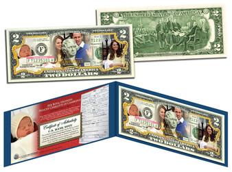 Princess Charlotte Of Cambridge Commemorative Colorized $2 Bill