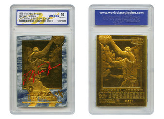 1996-1997 Michael Jordan Credentials SkyBox EX-2000 23K Gold Sculptured Card Graded Gem Mint 10