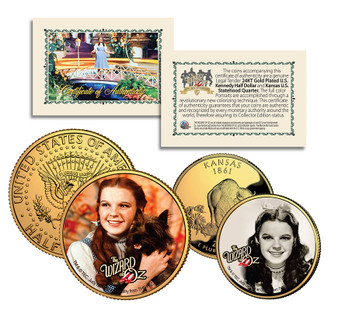 Wizard of Oz Dorothy 2 Coin Set