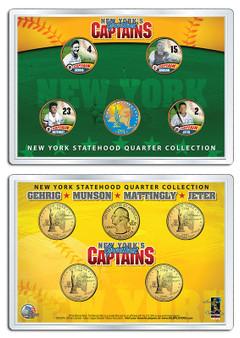 NY Yankees Captains 5 Coin Set