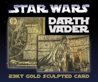 Star Wars Darth Vader 23K Gold Sculpted Card