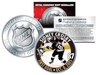 Sidney Crosby 1st NHL Goal 2005-2006 Royal Canadian Mint